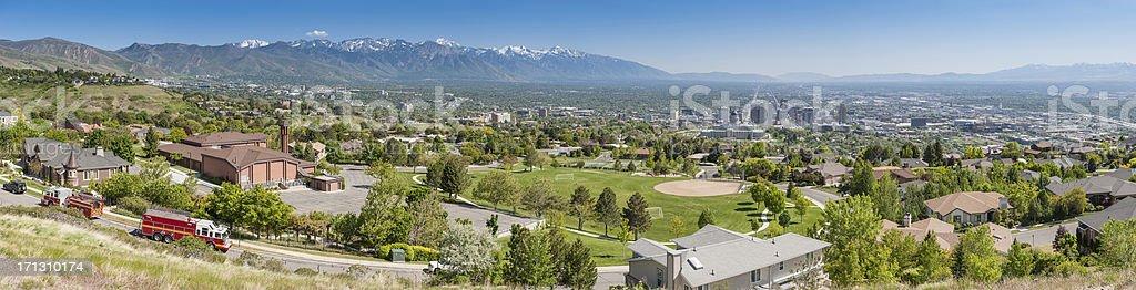American Vororten panorama Salt Lake City – Foto