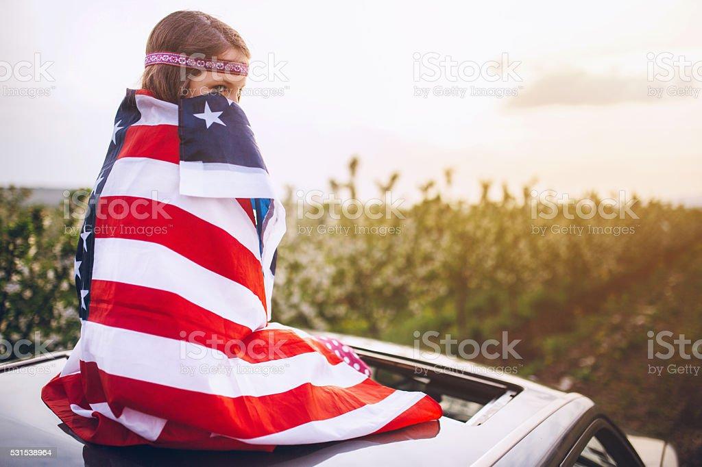 American sweet heart! stock photo
