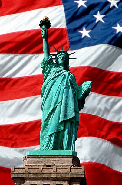 American Symbols of Freedom stock photo