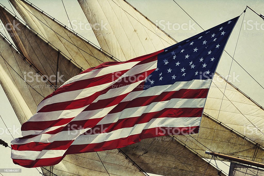 American Tall Ship stock photo
