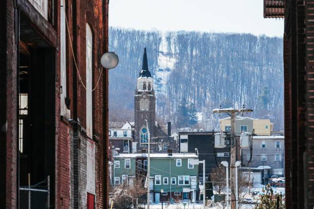 American town, Bethlehem, PA stock photo