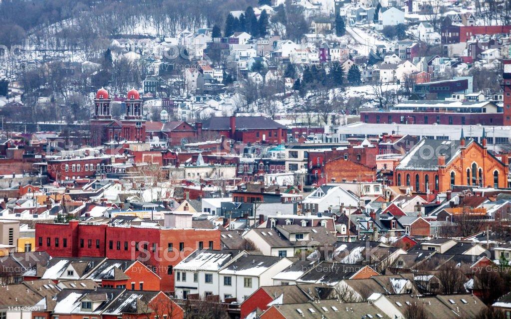 American town - Pittsburgh, PA stock photo