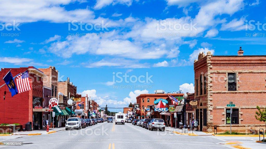 Amerikan kasabası - kırmızı Lodge, Montana - Royalty-free ABD Stok görsel