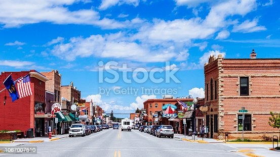American town - Red Lodge, Montana, USA