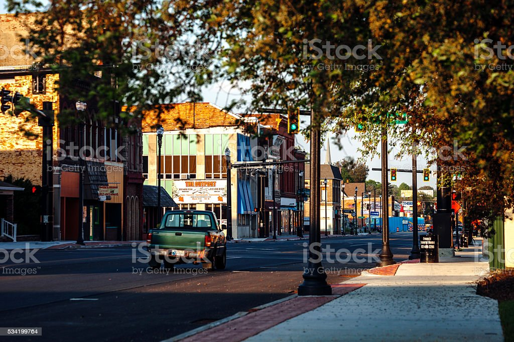 American town - Terre Haute, Indiana. stock photo