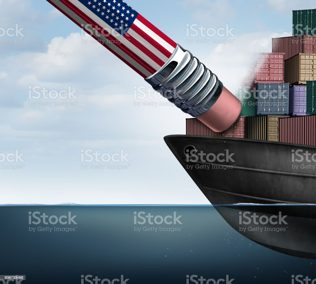 American Trade Deficit Reduction stock photo