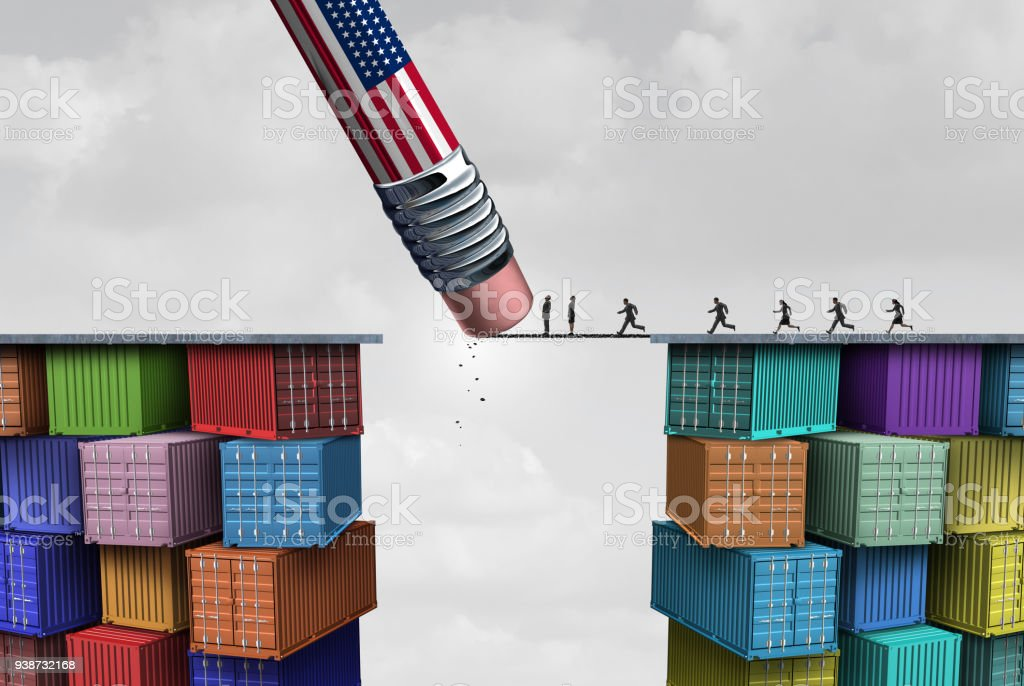 American Trade Sanctions stock photo