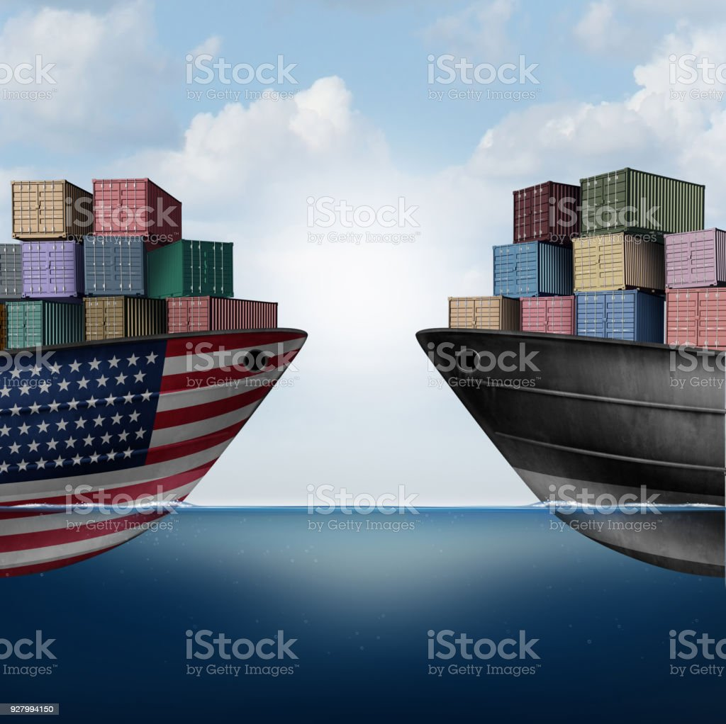 American Trade War stock photo
