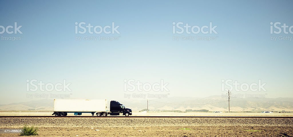 American truck on route 66 - USA stock photo