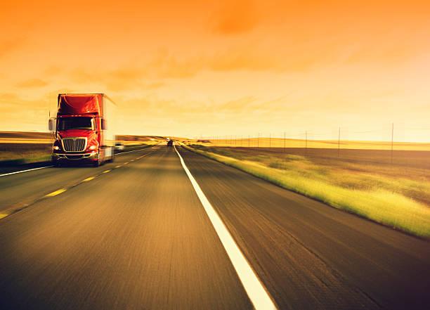 American camion sulla route 66-Stati Uniti - foto stock