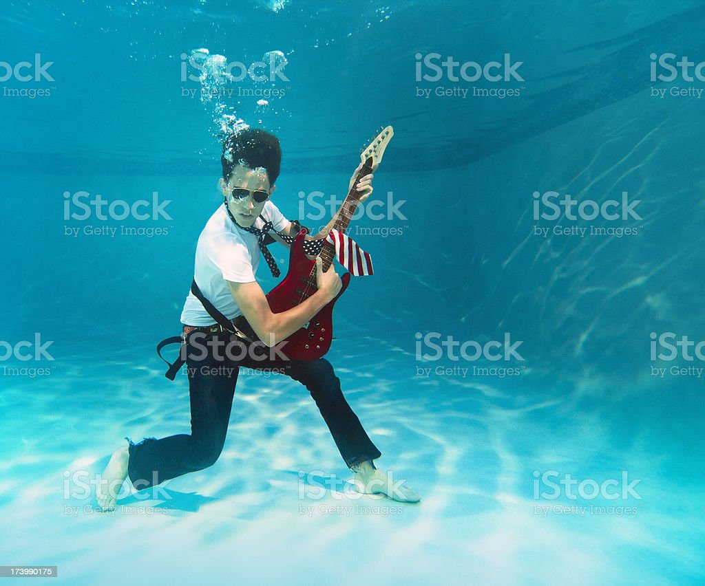 american underwater rock and roll stock photo