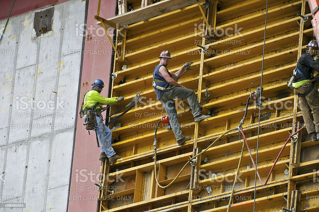 American Union Iron & Steel Workers, One World Trade Center stock photo
