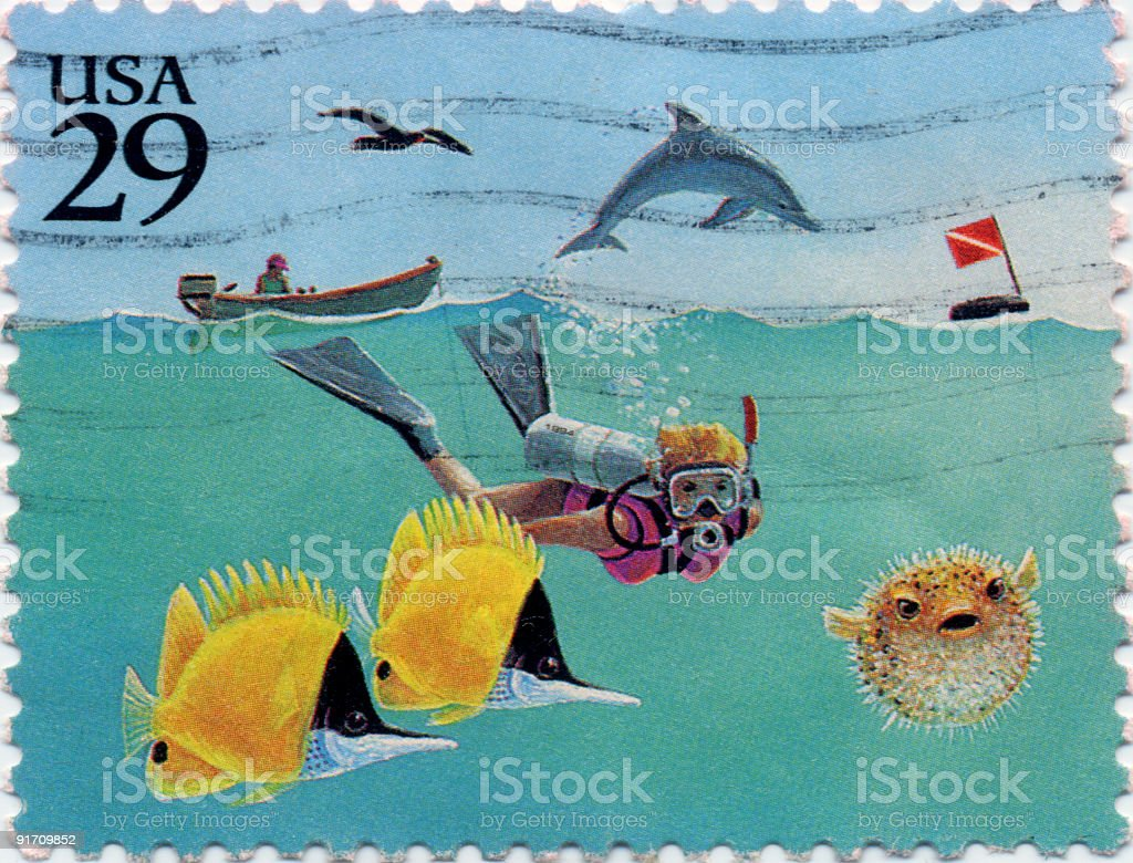 American Vacation Stamp royalty-free stock photo