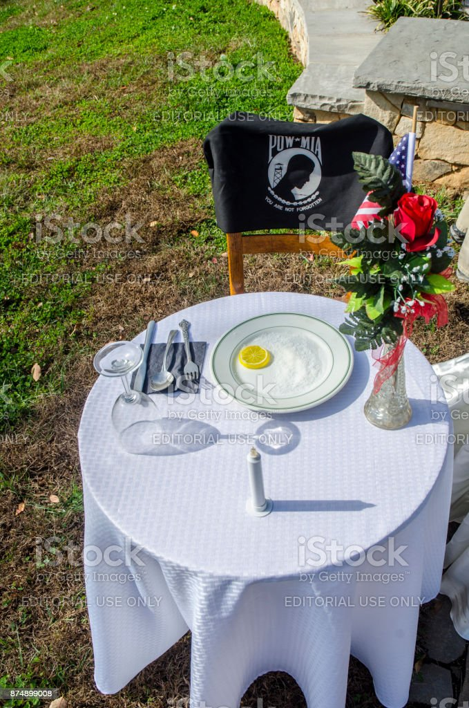 American Veterans Honored at a Veteran's Day Cermony stock photo