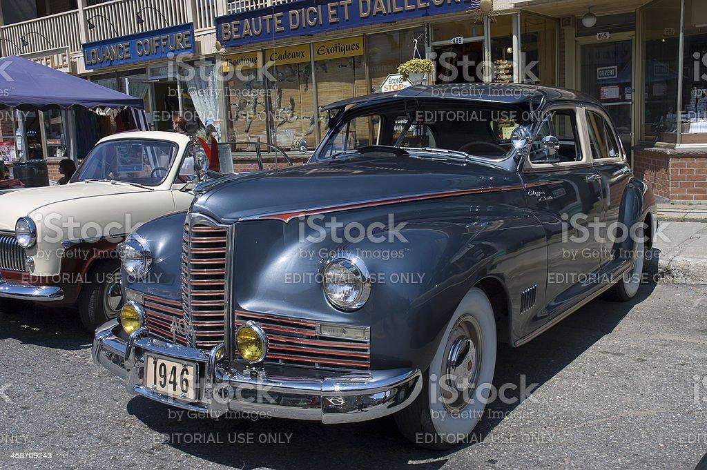 American vintage car year 1946 royalty-free stock photo