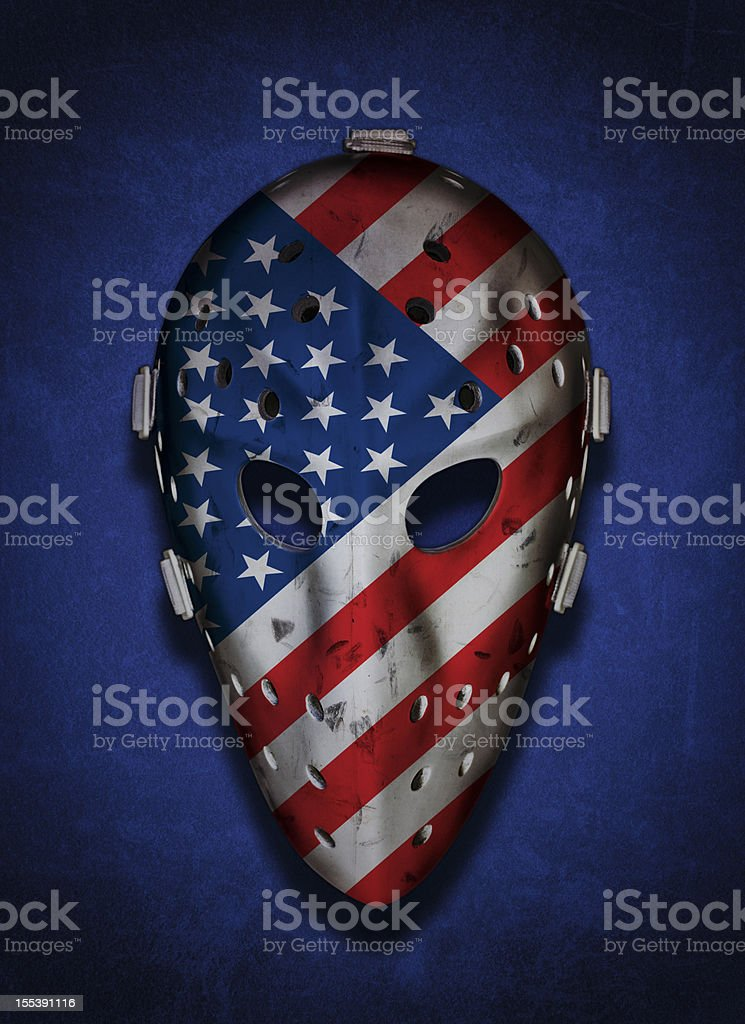 American Vintage Goalie Mask stock photo