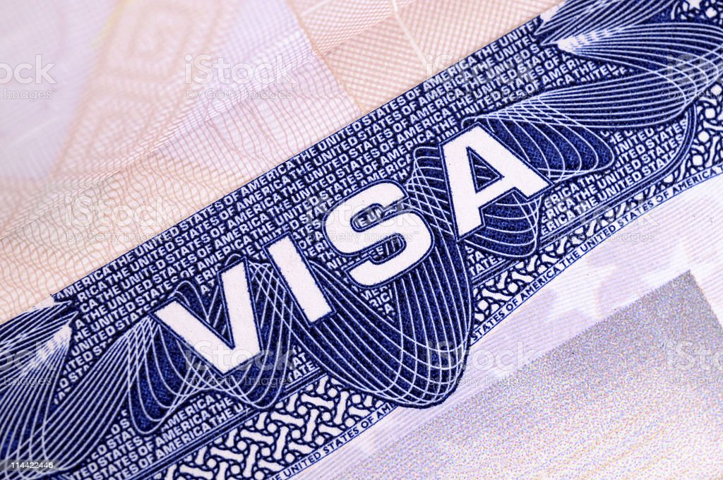 American Visa royalty-free stock photo
