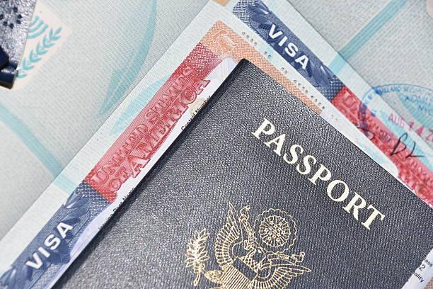 American visa - foto de stock