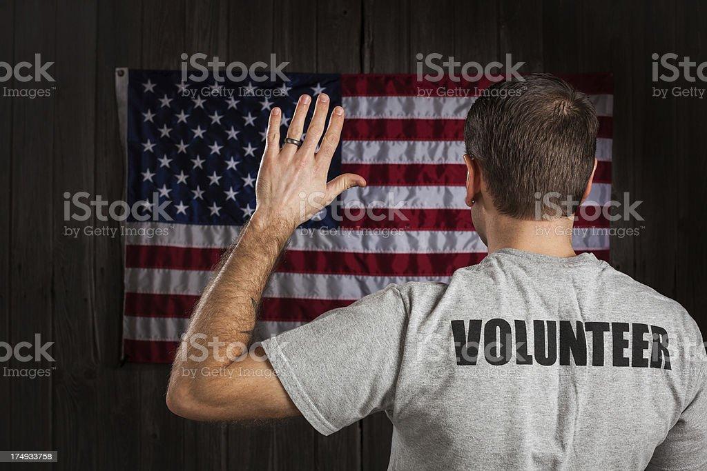 American Volunteer royalty-free stock photo