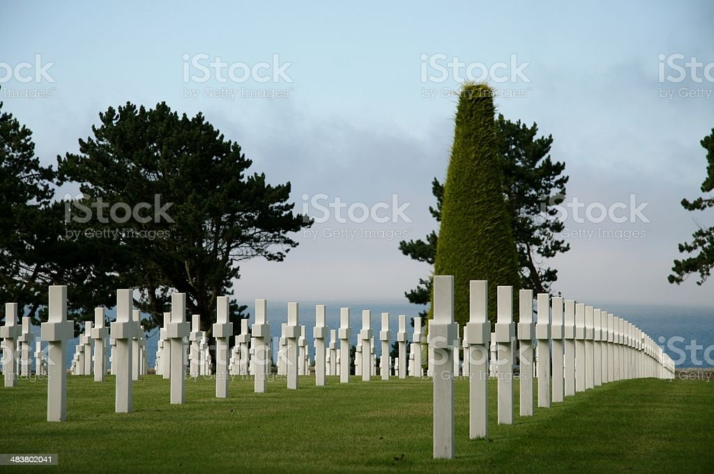 American War Cemetery at Normandy, France royalty-free stock photo