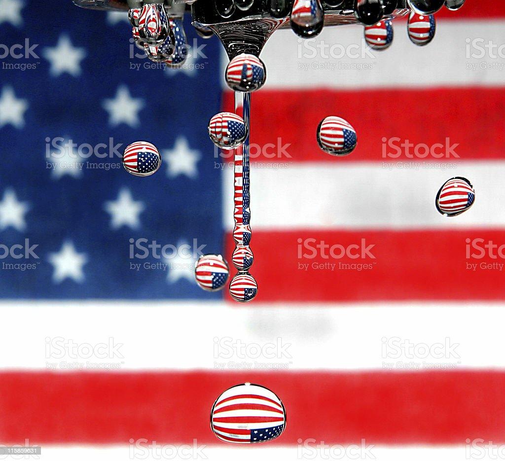 American Water Drops stock photo