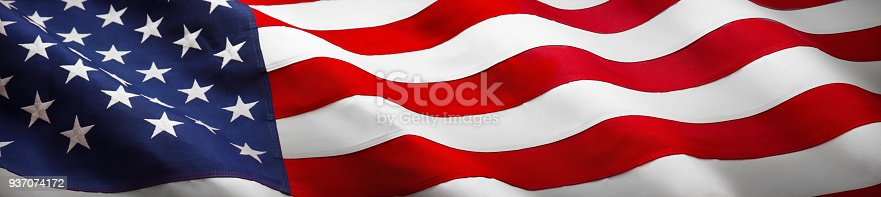 istock American Wave Flag 937074172
