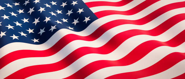 American waving flag Waving flag of USA in sunny daylight as a background american culture stock pictures, royalty-free photos & images