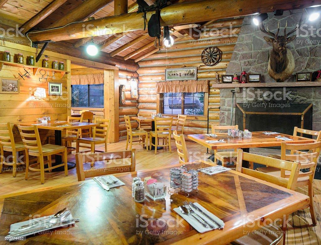 """Großartig Amerikanischer Kamin Beste Wahl Amerikanisches Western Blockhütte Restaurant """" Restaurants Room"""""""