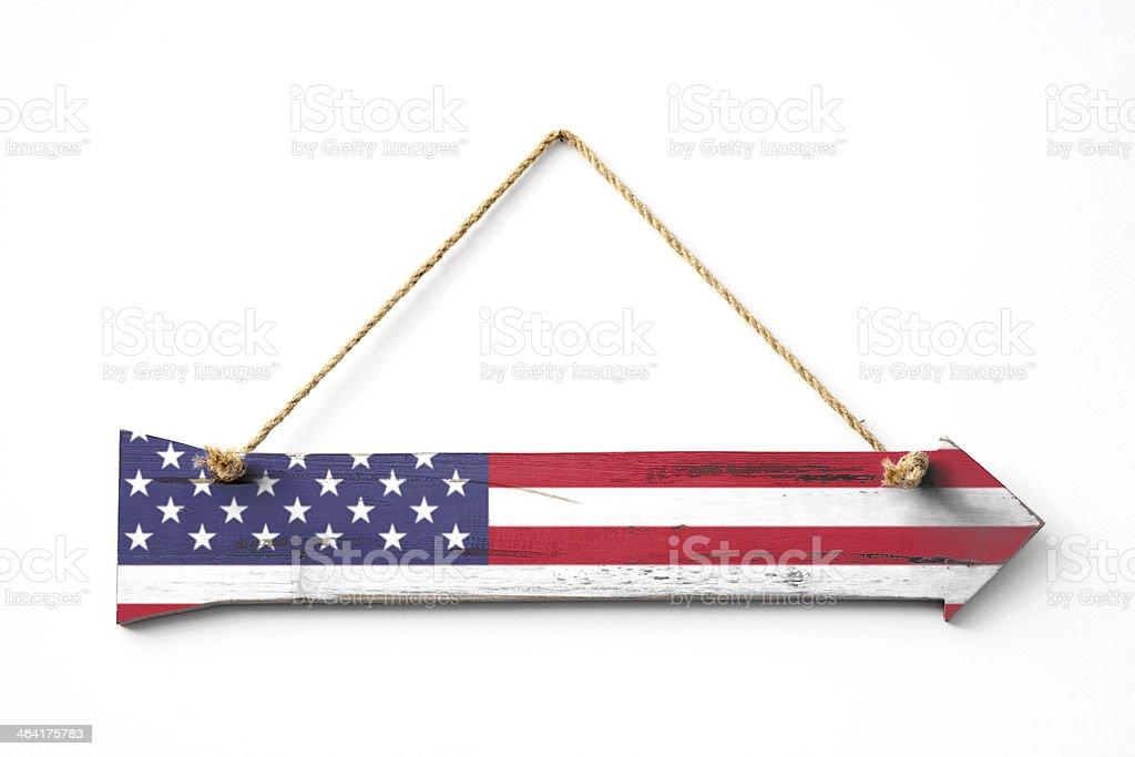 American Wooden Arrow royalty-free stock photo