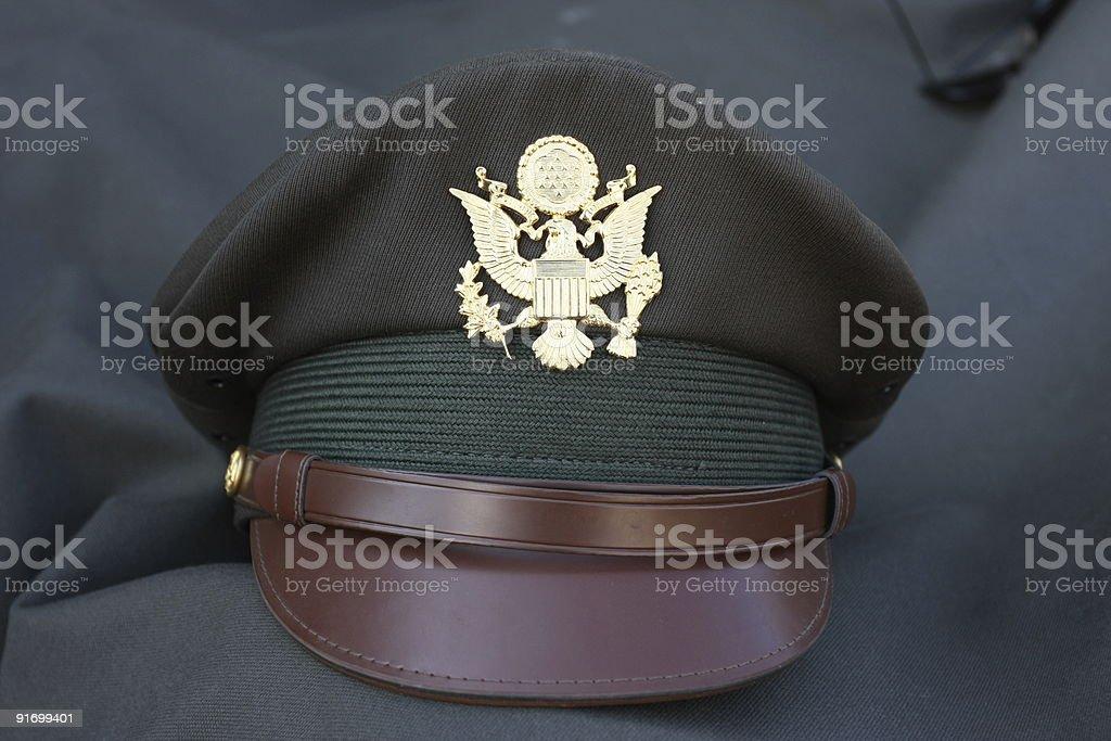 American world war II officer hat royalty-free stock photo
