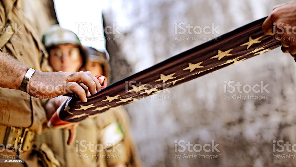 American World War ll Soldiers stock photo