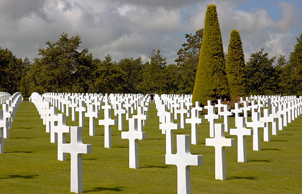American WWII cemetery in Normandy. stock photo