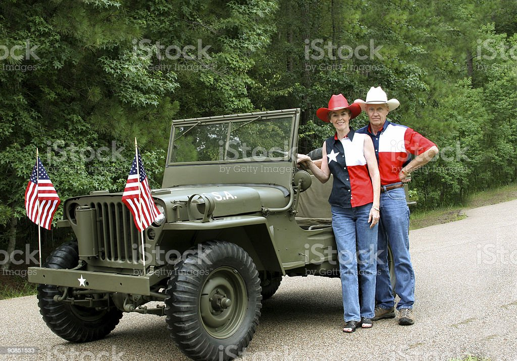 American WWII Jeep royalty-free stock photo