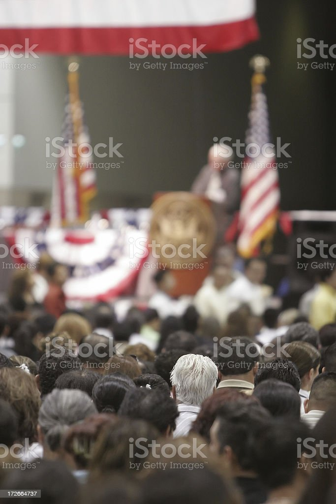 Americana: Classic Town Hall Meeting stock photo