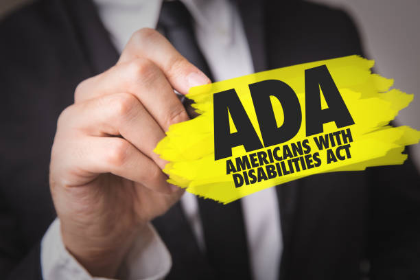 ADA - Americans With Disabilities Act stock photo