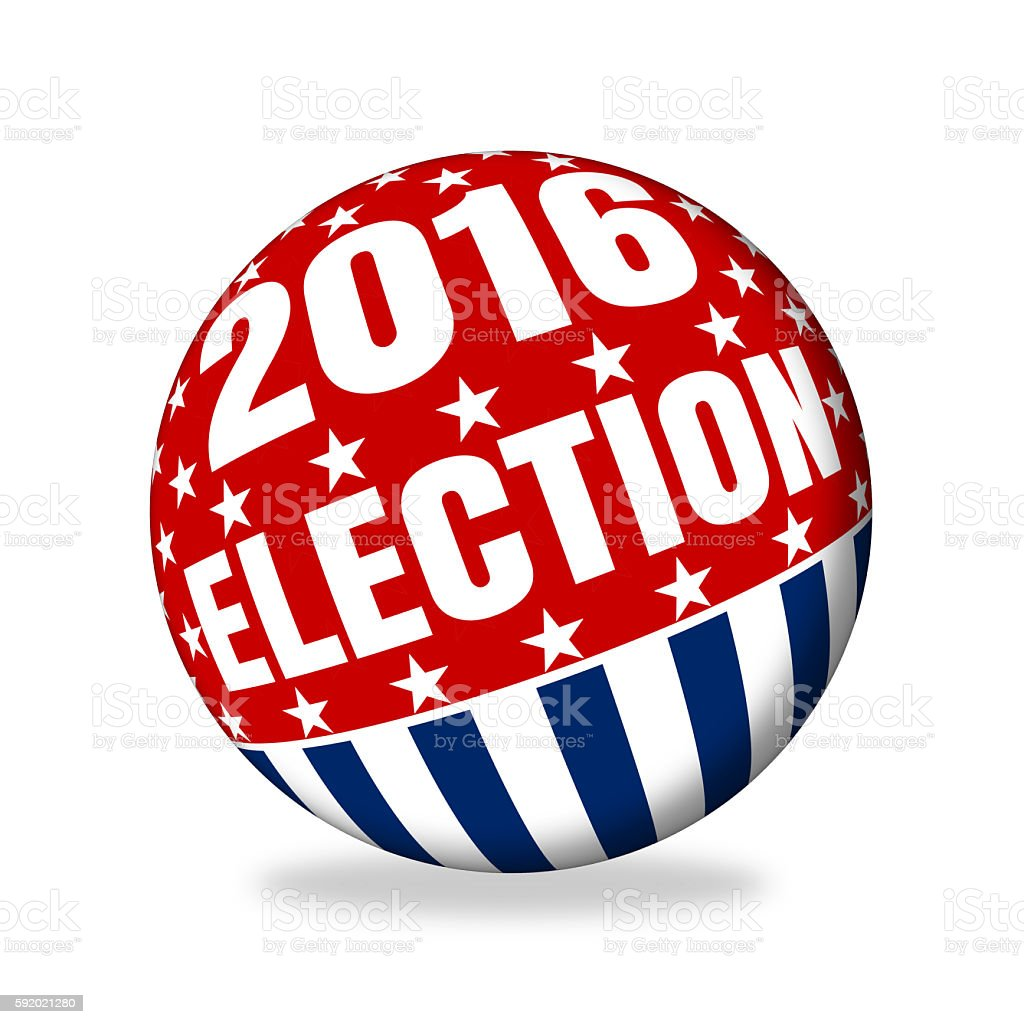 America's 2016 voting sphere stock photo