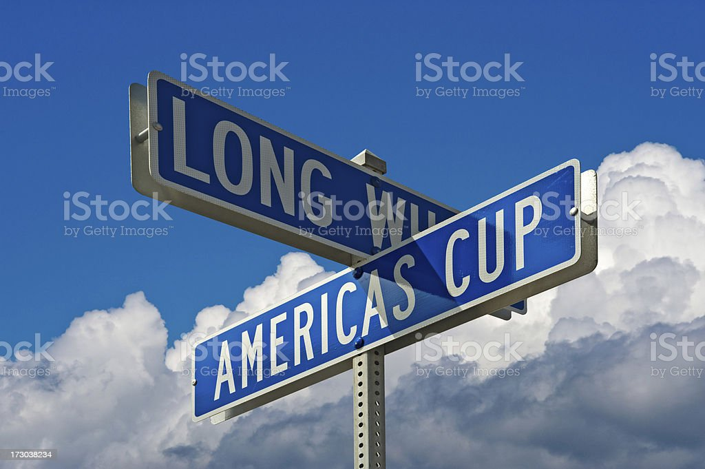 Americas Cup Boulevard stock photo