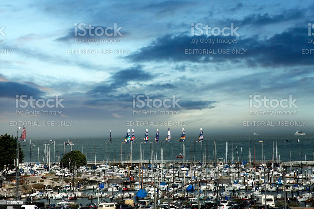 America's Cup in San Francisco stock photo