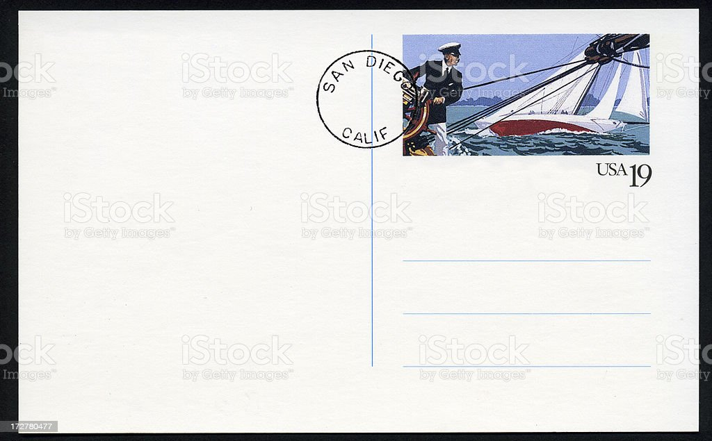 America's Cup Post Card stock photo