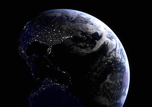 America's Lights at Night stock photo