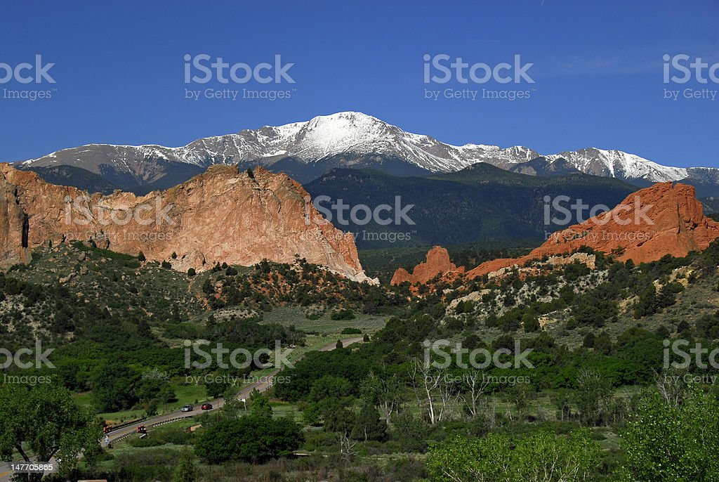 America's Mountain Majesty royalty-free stock photo