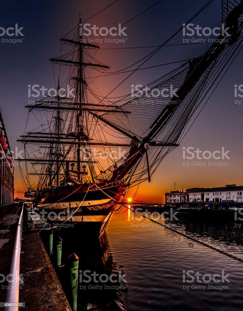 Amerigo Vespucci at sunrise - foto stock