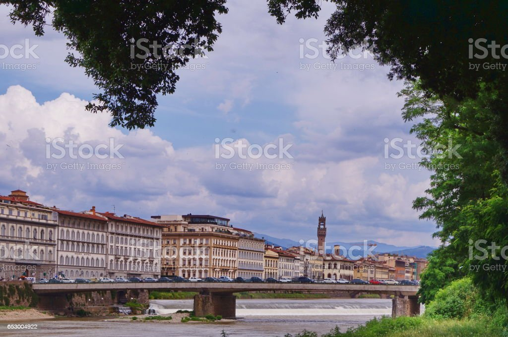 Amerigo Vespucci bridge Florence - foto stock