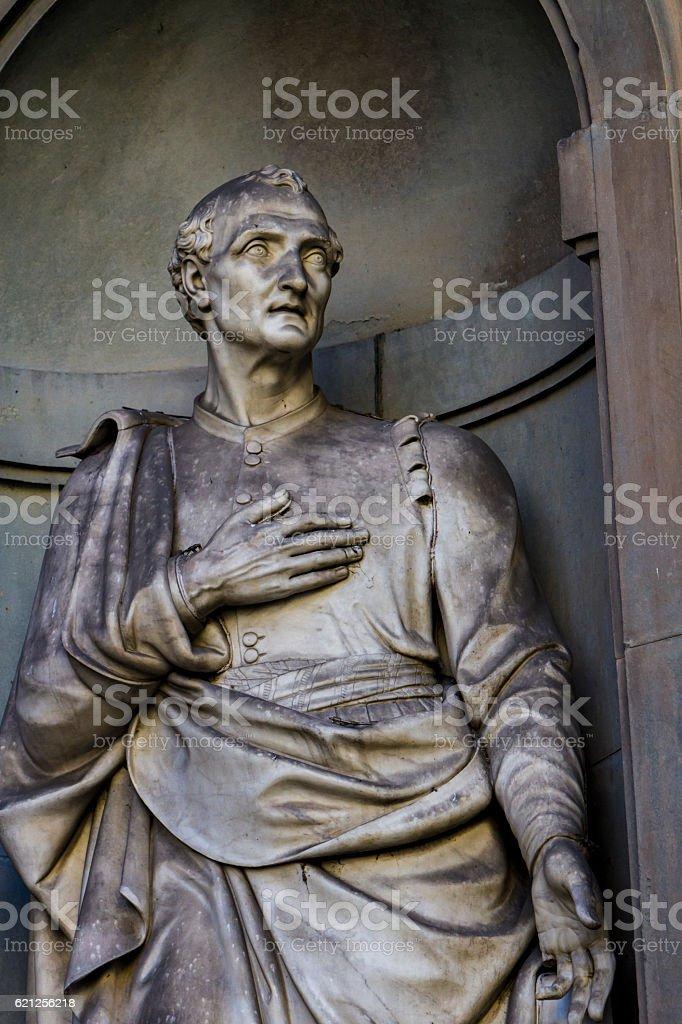Amerigo Vespucci statue - foto stock