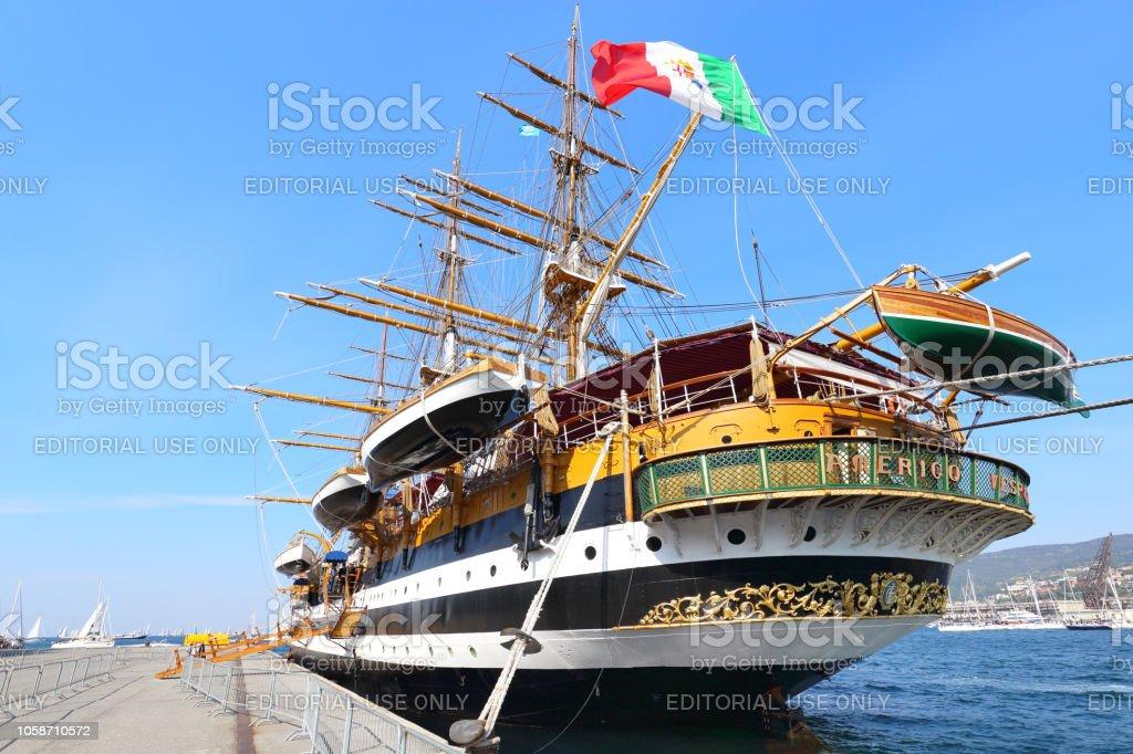 Amerigo Vespucci tall ship - foto stock
