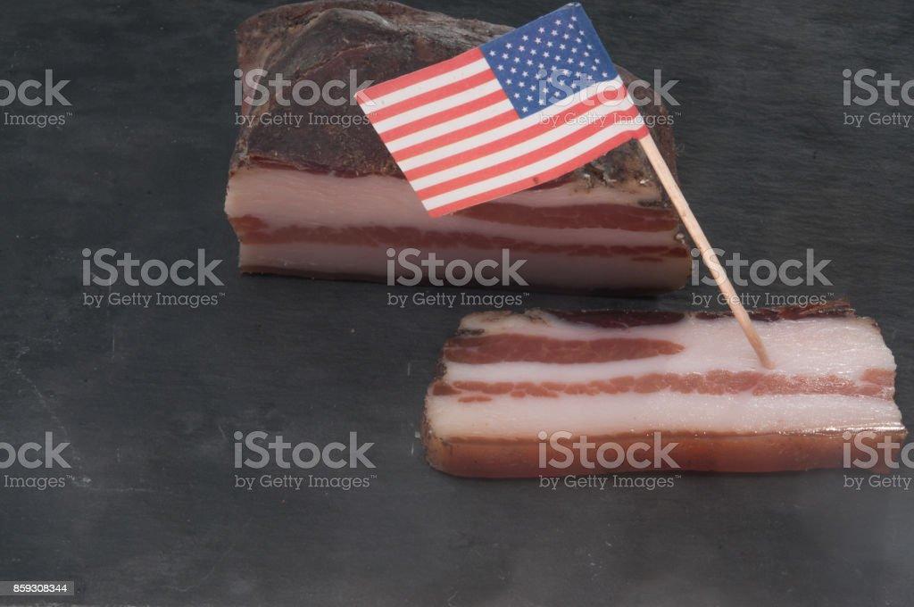Amerikanische Speckplatte stock photo
