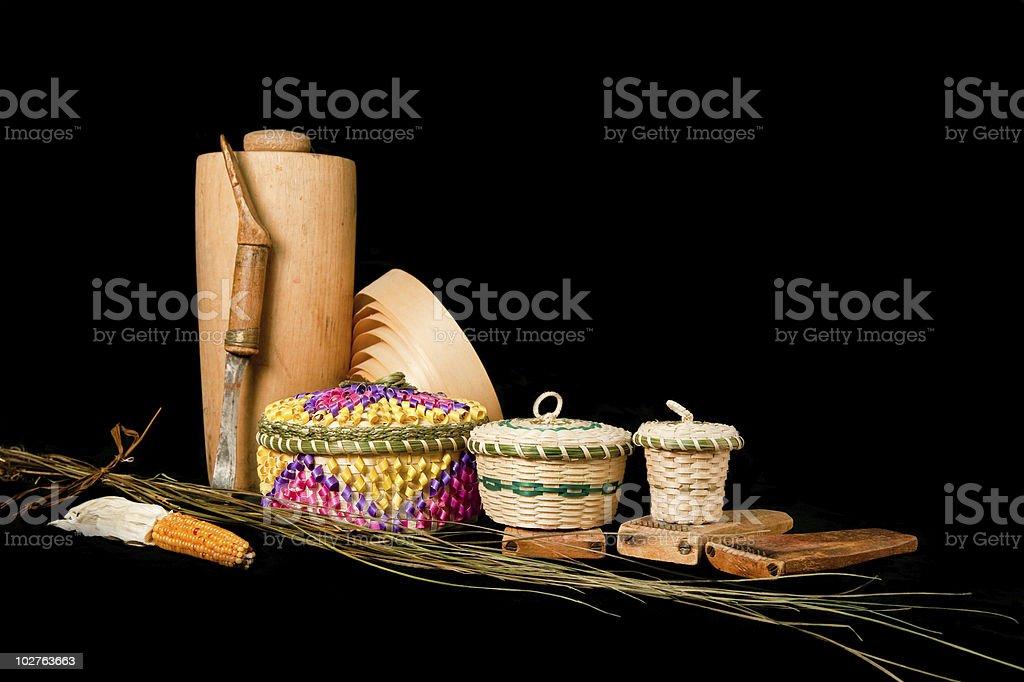 Amerindian crafts stock photo