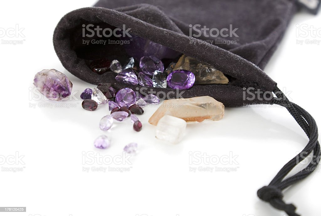 Amethyst and Garnet royalty-free stock photo