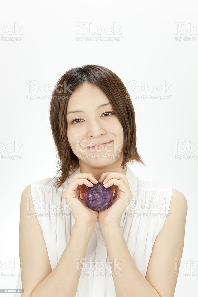 Amethyst and Women royalty-free stock photo