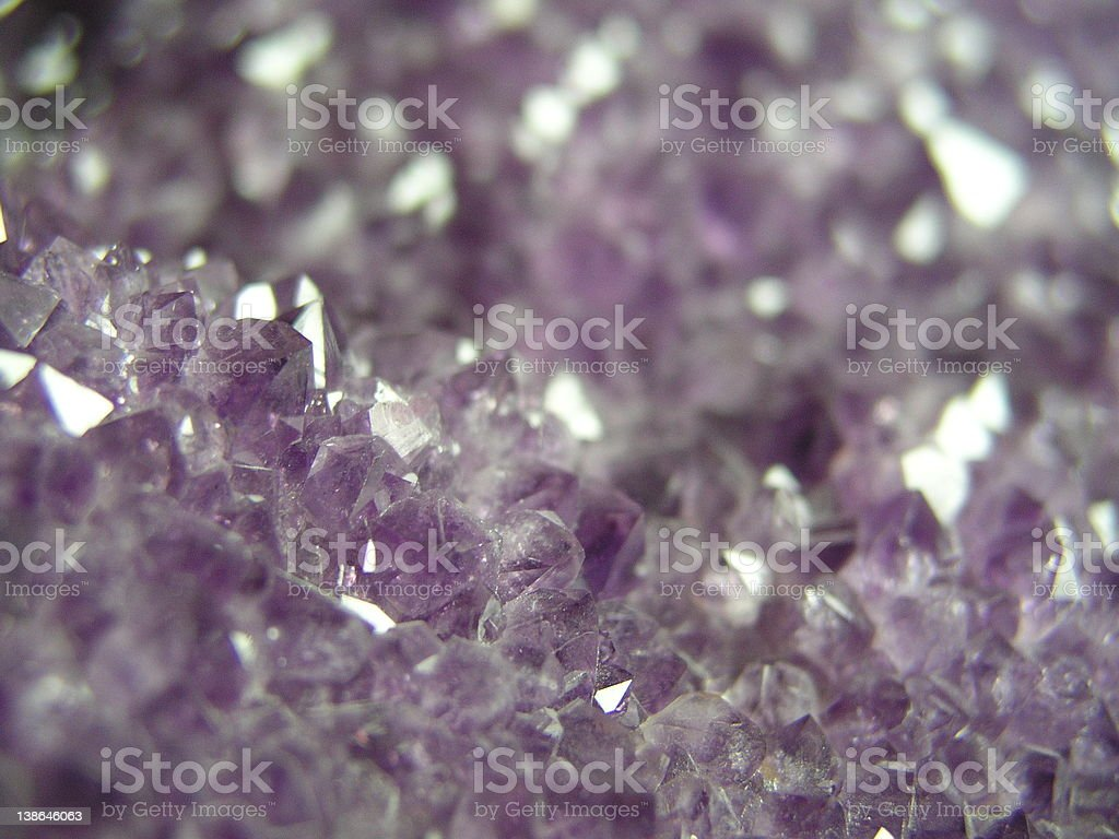 Amethyst crystal royalty-free stock photo